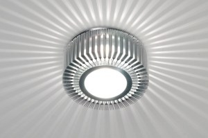 plafondlamp 71381 modern eigentijds klassiek design aluminium aluminium metaal rond