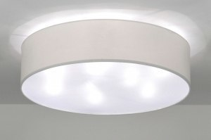 ceiling lamp 71391 rustic modern contemporary classical fabric white round