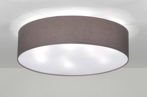 ceiling lamp 71392 rustic modern contemporary classical fabric grey round