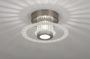 plafondlamp 71421 design modern aluminium aluminium rond