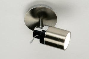 spotlight 71486 modern contemporary classical stainless steel metal steel gray round