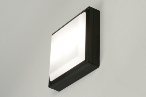 plafondlamp 71493 modern aluminium kunststof polycarbonaat metaal zwart vierkant