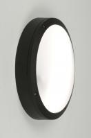 plafonnier 71495 moderne aluminium plastique polycarbonate acier noir rond