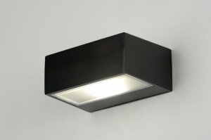 wall lamp 71510 modern contemporary classical black matt aluminium metal rectangular