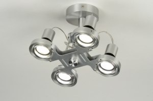 plafondlamp 71544 sale modern design aluminium staalgrijs aluminium metaal rond