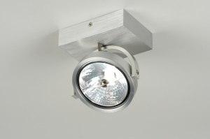 plafondlamp 71550 modern design industrie look aluminium aluminium metaal rechthoekig