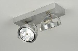 plafondlamp 71551 modern design industrie look aluminium aluminium metaal rechthoekig