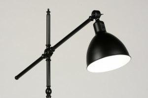 lampadaire 71590 look industriel rural rustique retro classique contemporain acier noir mat rond