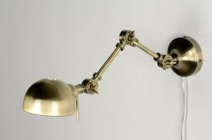 wall lamp 71597 rustic retro classical brass bronze metal gold matt brass