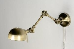 Wandleuchte 71597 laendlich rustikal Retro Klassisch Messing bronzefarben Metall Gold Matt Messing