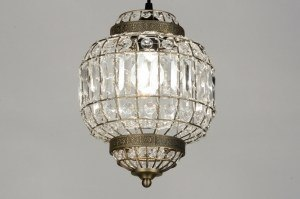 pendant light 71599 rustic classical contemporary classical crystal acrylate crystal metal rust round