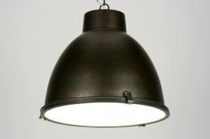 pendant light 71712 industrial look rustic modern aluminium metal rust rusty brown brown round