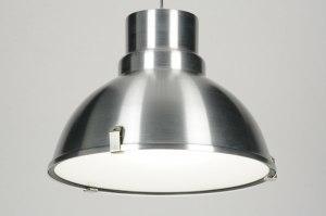 hanglamp 71718 industrie look landelijk rustiek modern aluminium metaal aluminium rond