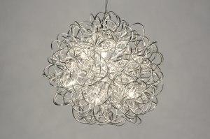 hanglamp 71737 sale design modern aluminium metaal chroom rond