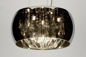 pendant light 71738 rustic modern contemporary classical glass crystal crystal glass chrome round