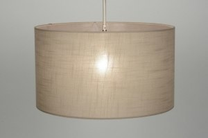 pendant light 71755 fabric taupe colored