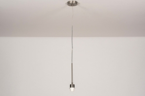 hanglamp 71768 modern staal rvs staalgrijs rond