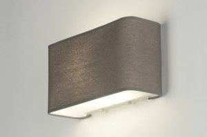 wall lamp 71815 rustic modern contemporary classical fabric grey rectangular
