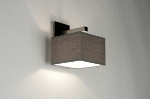 wall lamp 71817 sale rustic modern contemporary classical fabric grey square