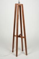 vloerlamp 71855 industrie look modern stoer raw eigentijds klassiek hout donker hout bruin