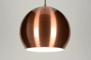hanglamp 71893 sale modern retro aluminium metaal koper roodkoper rond