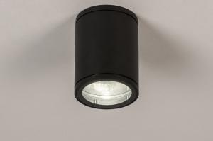 plafondlamp 71905 design modern aluminium metaal zwart mat rond