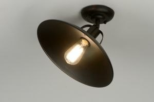 ceiling lamp 71955 rustic retro classical contemporary classical metal black round