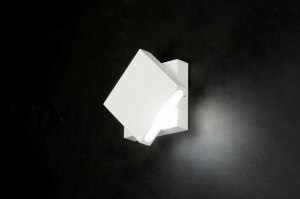 wall lamp 71973 modern designer white matt aluminium metal square