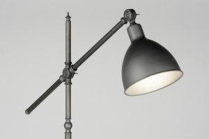 vloerlamp 72030 eigentijds klassiek landelijk rustiek retro industrie look staalgrijs metaal rond