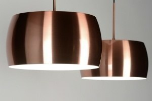pendant light 72041 sale designer modern aluminium metal copper red copper round oblong