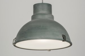 hanglamp 72052 industrie look landelijk rustiek modern aluminium metaal betongrijs zink rond