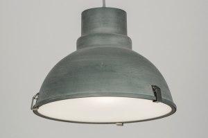 suspension 72052 look industriel rural rustique moderne aluminium acier gris beton zinc rond