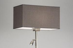 vloerlamp 72059 modern landelijk rustiek grijs staal rvs stof rechthoekig