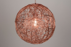 pendant light 72080 sale rustic modern aluminium metal copper red copper round
