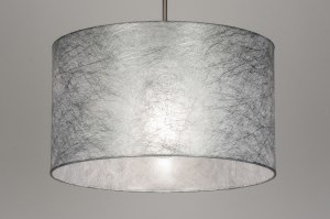 hanglamp 72082 stof grijs zilvergrijs