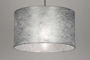 Pendelleuchte 72082 Stoff grau Silber