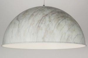 hanglamp 72095 landelijk rustiek modern retro aluminium metaal marmer rond