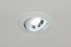 recessed spotlight 72122 rustic modern contemporary classical metal white matt round
