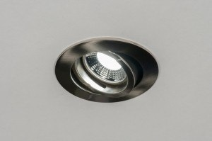 recessed spotlight 72123 rustic modern contemporary classical stainless steel metal steel gray round
