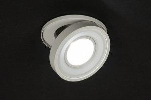 inbouwspot 72124 sale design modern eigentijds klassiek metaal wit mat rond
