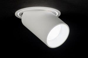 inbouwspot 72135 sale modern design wit mat aluminium metaal rond