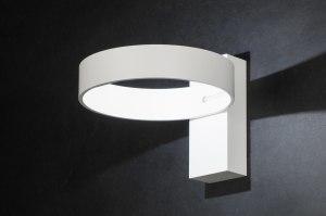 wandlamp 72139 modern design wit mat aluminium metaal rond rechthoekig