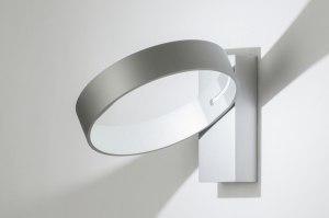 wandlamp 72140 modern design grijs aluminium metaal rond rechthoekig