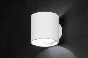 wandlamp 72145 design modern aluminium wit mat rond