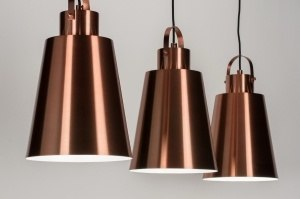 hanglamp 72163 sale industrie look landelijk rustiek modern retro aluminium metaal koper roodkoper langwerpig