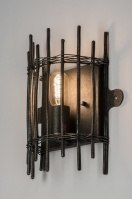 wall lamp 72180 industrial look rustic contemporary classical metal black matt dark gray