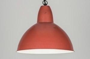 hanglamp 72194 sale landelijk rustiek retro industrie look rood metaal rond