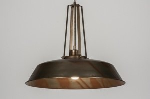 hanglamp 72204 sale modern landelijk rustiek retro industrie look brons roest bruin roest bruin brons metaal rond