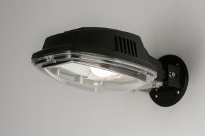 wall lamp 72208 industrial look modern plastic polycarbonate black matt