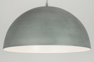 pendant light 72227 rustic modern metal concrete gray round